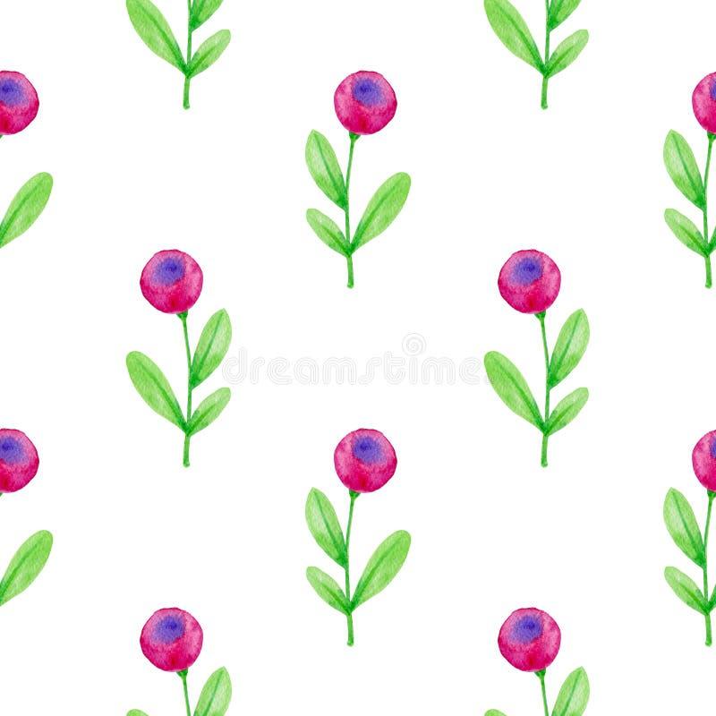 Kwiecisty bezszwowy wz?r z r??owymi kwiatami royalty ilustracja