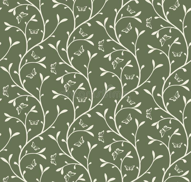kwiecisty butterfilies wzór royalty ilustracja
