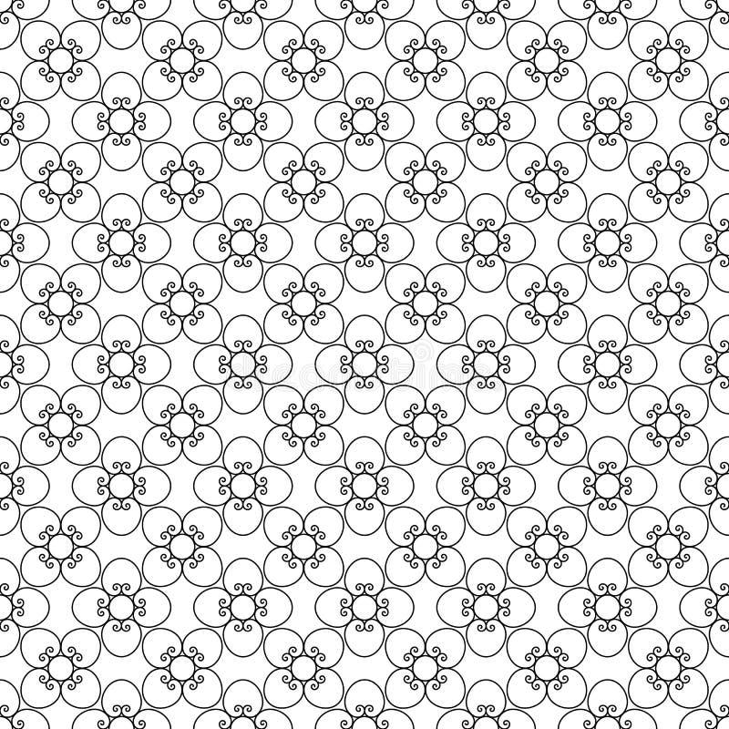 Kwiecisty czarny rocznika wzór royalty ilustracja