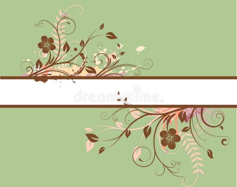 Kwiecisty Dekoracyjny sztandar ilustracja wektor