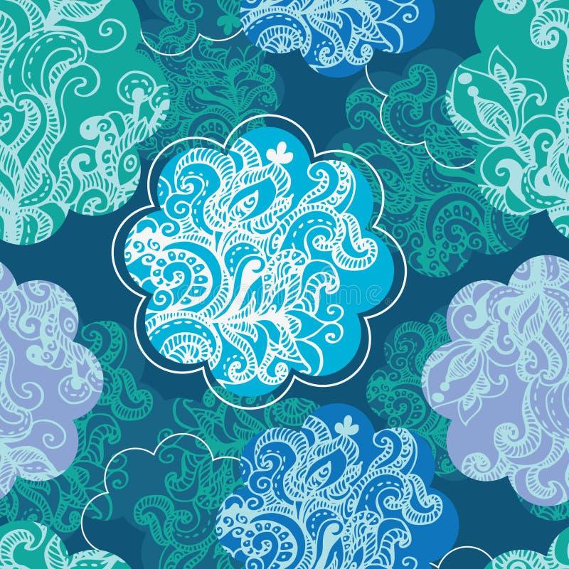 kwiecisty deseniowy bezszwowy ilustracja wektor