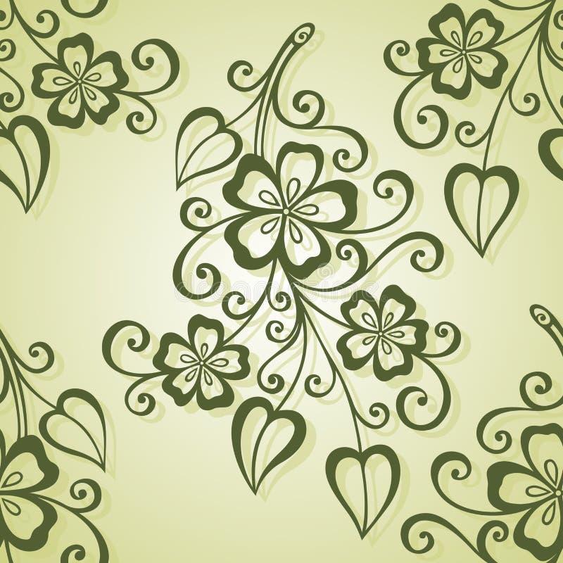 kwiecisty deseniowy bezszwowy wektor royalty ilustracja