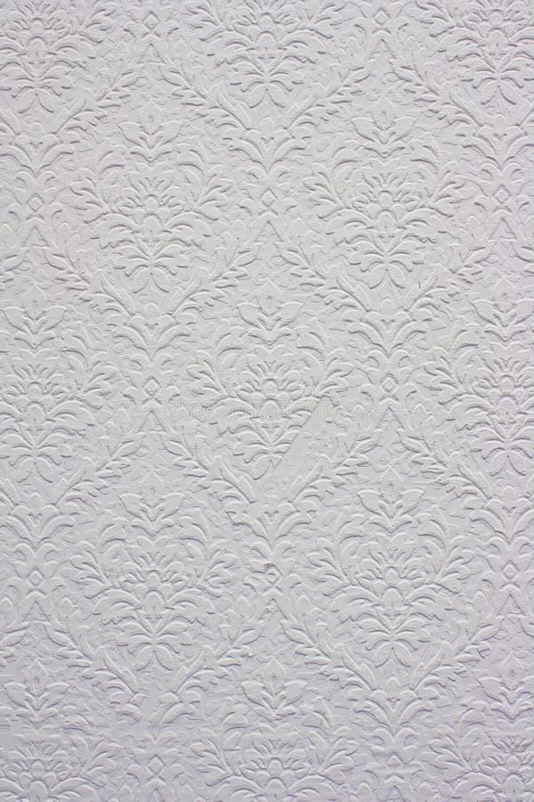 kwiecisty deseniowy rocznika tapety biel zdjęcie royalty free