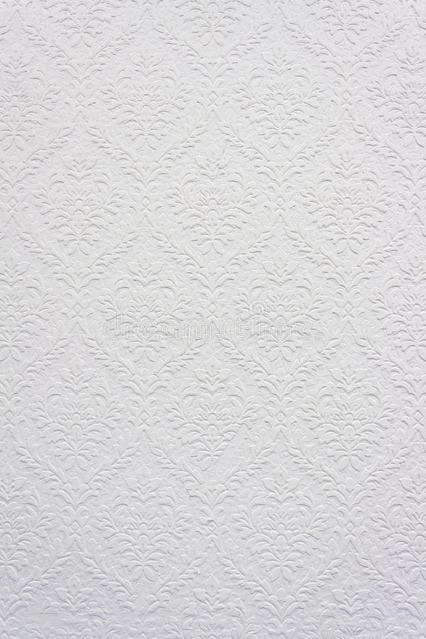 kwiecisty deseniowy rocznika tapety biel zdjęcia royalty free