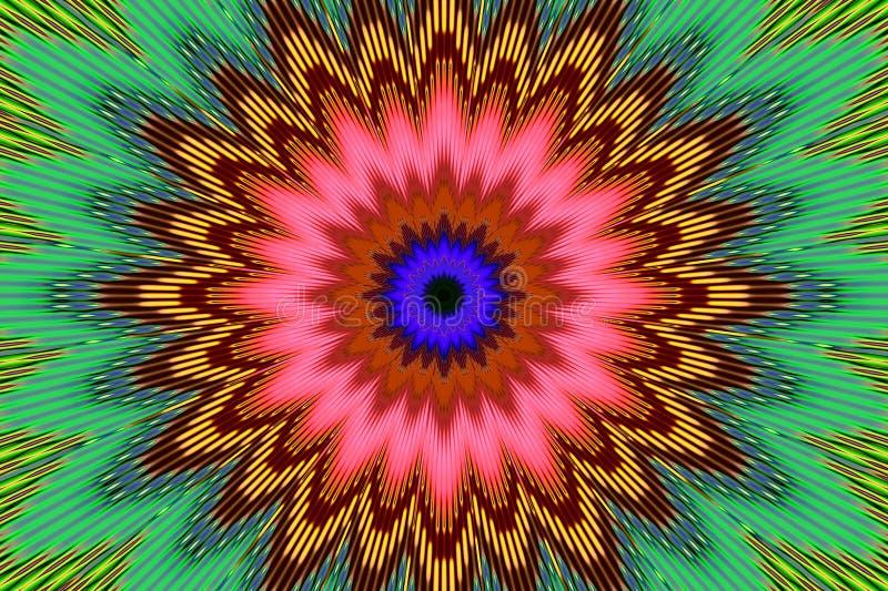 Kwiecisty deseniowy t?czy t?o multicolor shinny royalty ilustracja