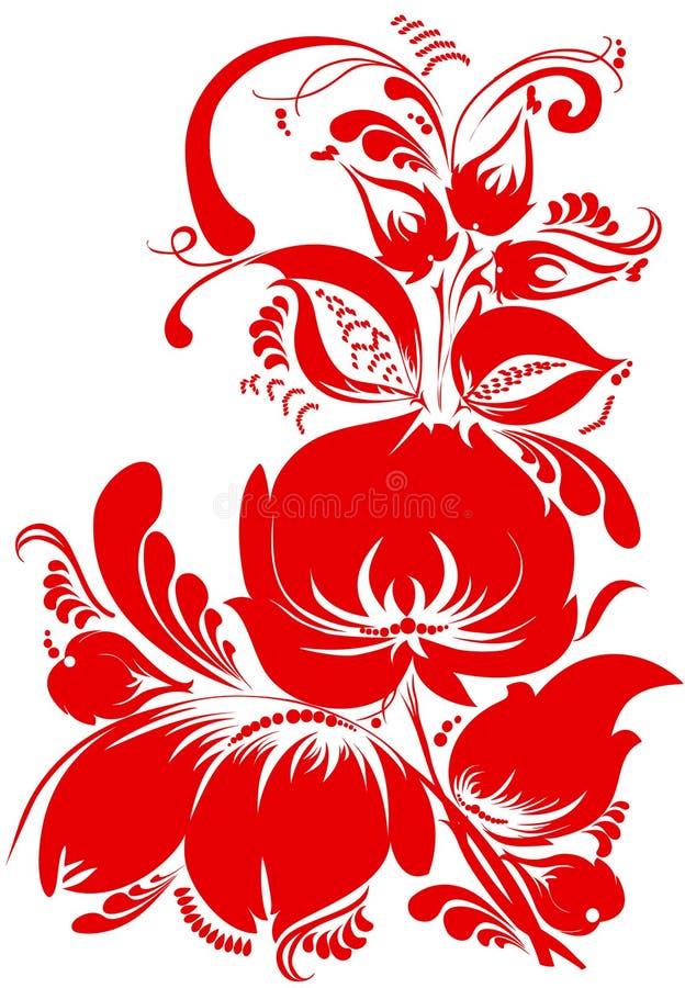 kwiecisty deseniowy tradycyjny royalty ilustracja