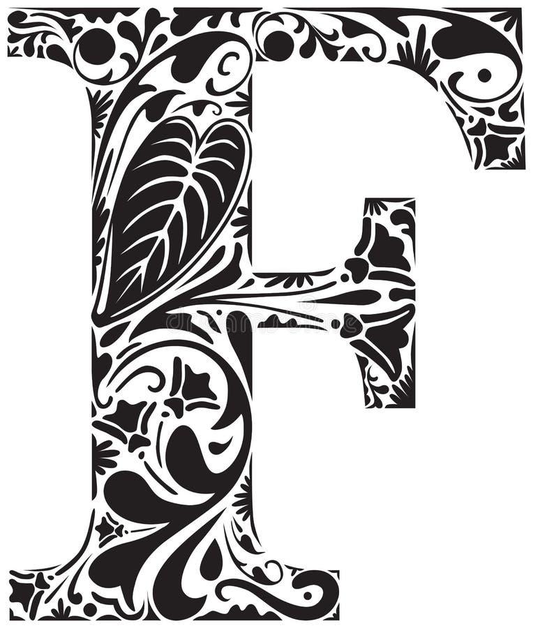 Kwiecisty F ilustracja wektor
