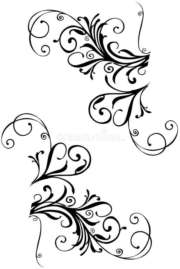 kwiecisty graniczny ilustracja wektor