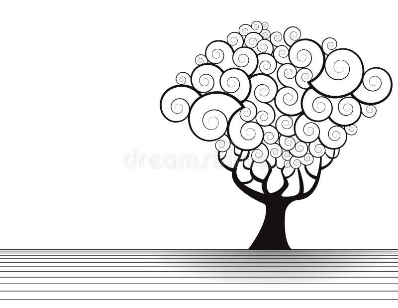 kwiecisty ilustracyjny drzewo royalty ilustracja