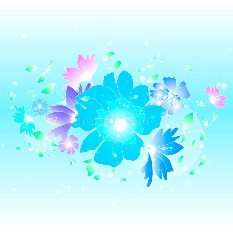Kwiecisty ilustracyjny tło zdjęcie stock