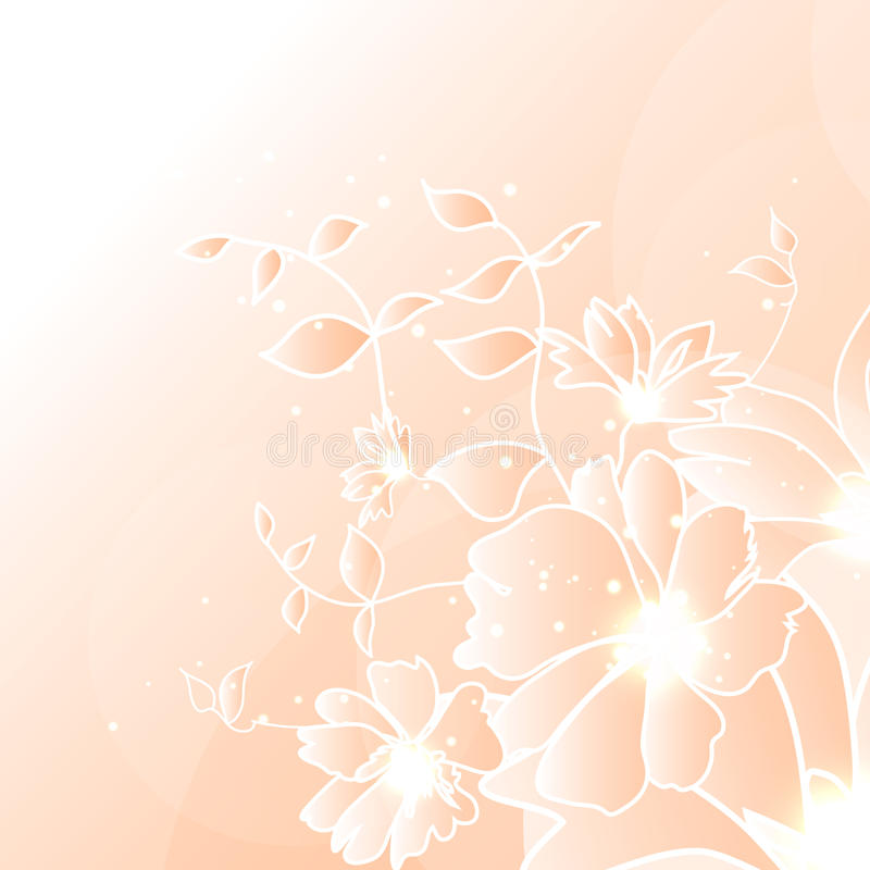 Kwiecisty ilustracyjny tło obraz stock