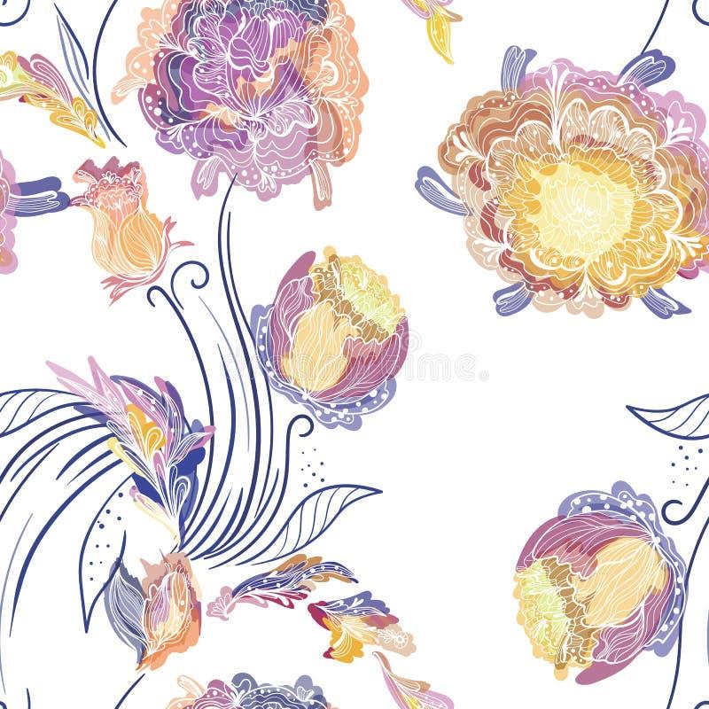kwiecisty japończyka wzoru styl royalty ilustracja