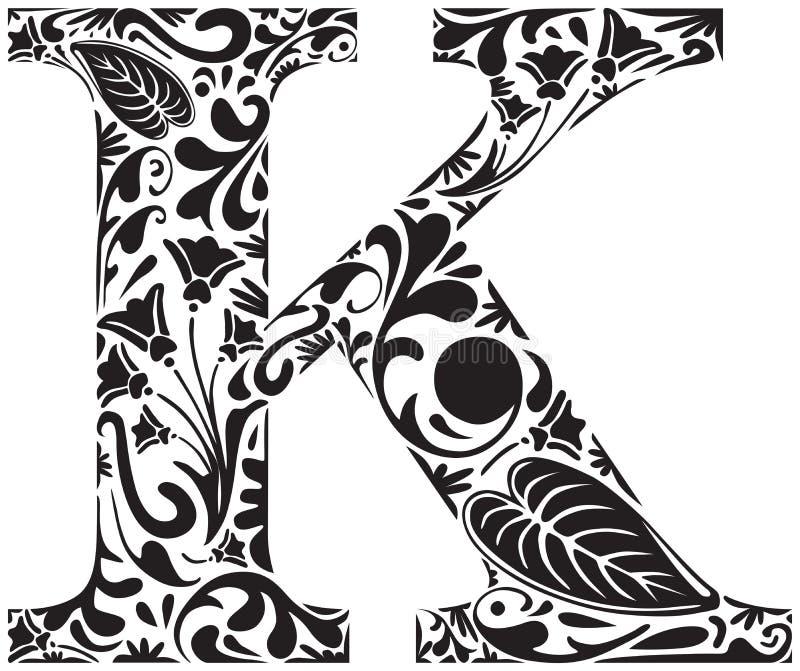 Kwiecisty K ilustracji