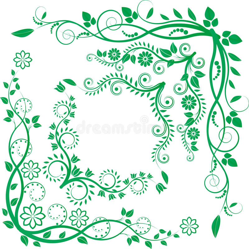 Download Kwiecisty kąt ilustracja wektor. Obraz złożonej z dekoracje - 26666386
