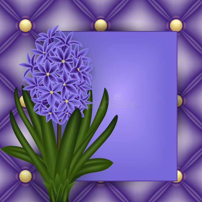 Kwiecisty karciany szablon royalty ilustracja