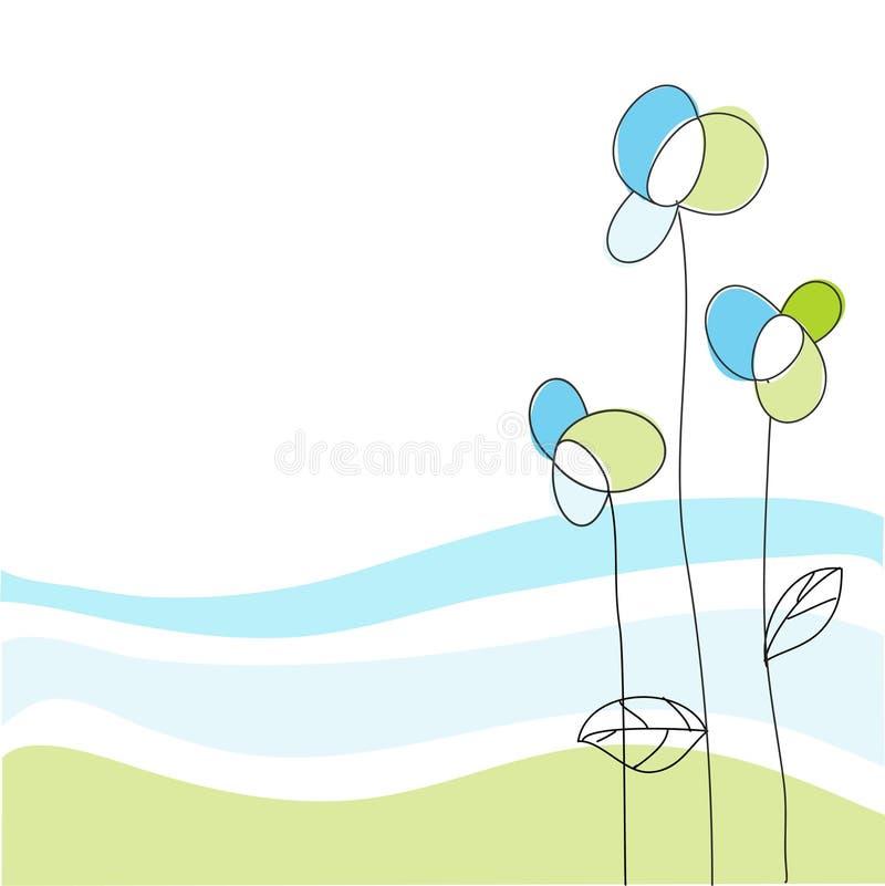 Kwiecisty kartka z pozdrowieniami ilustracja wektor