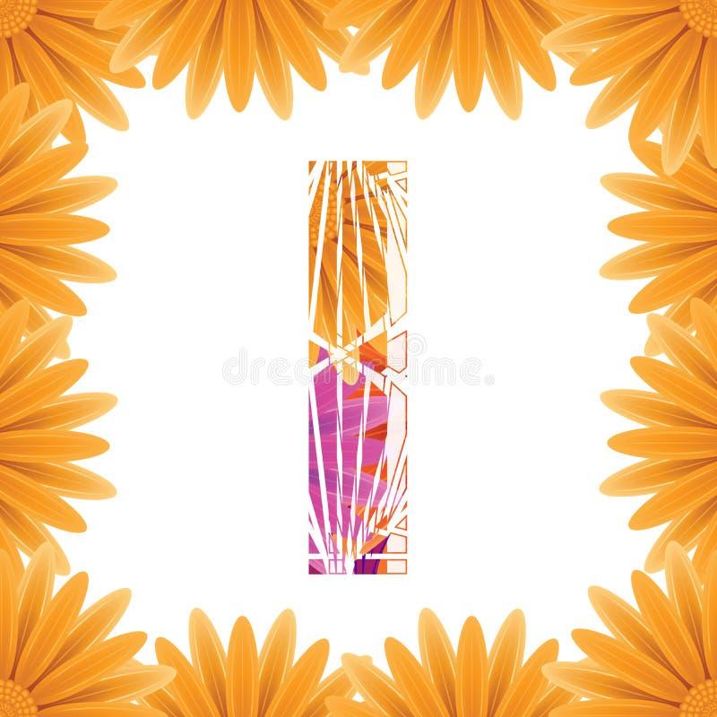 Kwiecisty list projektuj? szablon Mother&-x27; s Das kwiatu logo typ projekta Abstrakcjonistyczny abecad?o logo poj?cie obraz stock