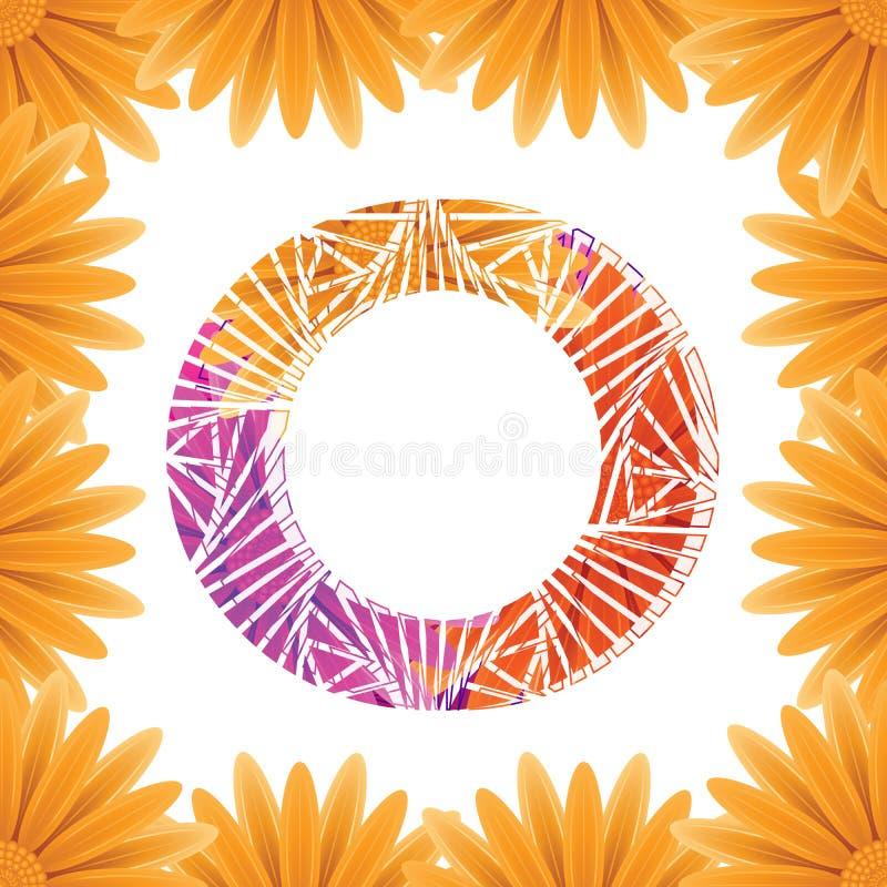Kwiecisty listu O projekta szablon Mother&-x27; s Das kwiatu logo typ projekta Abstrakcjonistyczny abecad?o logo poj?cie obraz royalty free