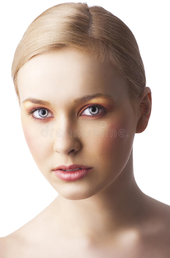 Kwiecisty makeup, obraca trzy czwarte zdjęcia stock