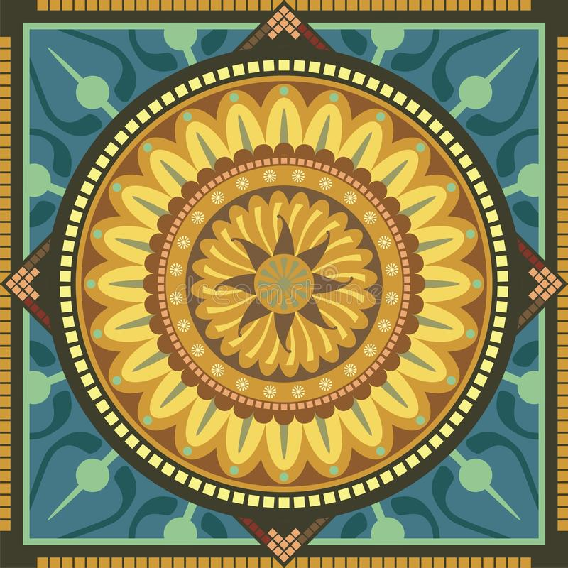 kwiecisty mandala royalty ilustracja