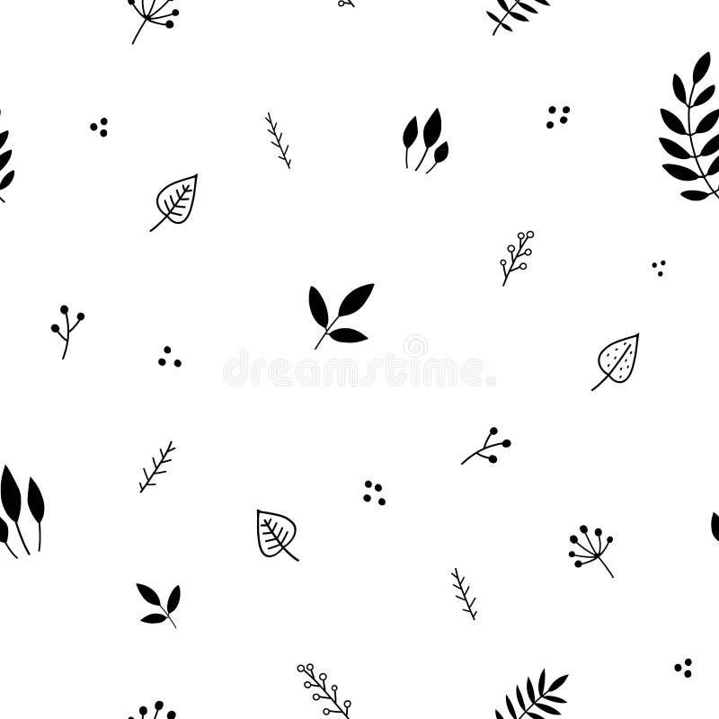 Kwiecisty minimalistyczny bezszwowy wzór obrazy royalty free