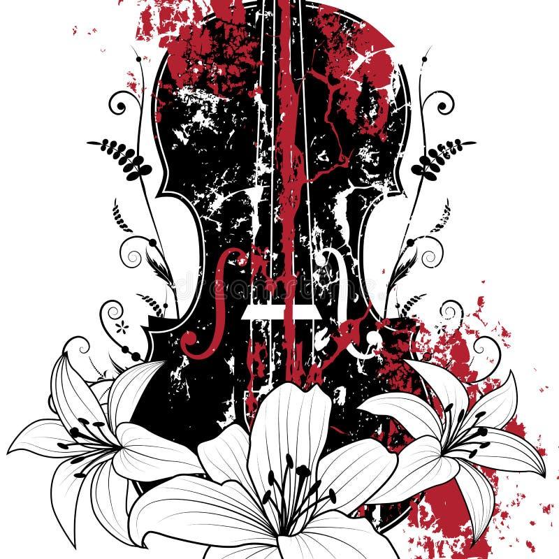 Kwiecisty muzykalny skład ilustracja wektor