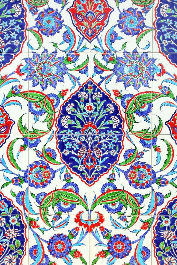 Kwiecisty ornament na płytkach zdjęcie royalty free