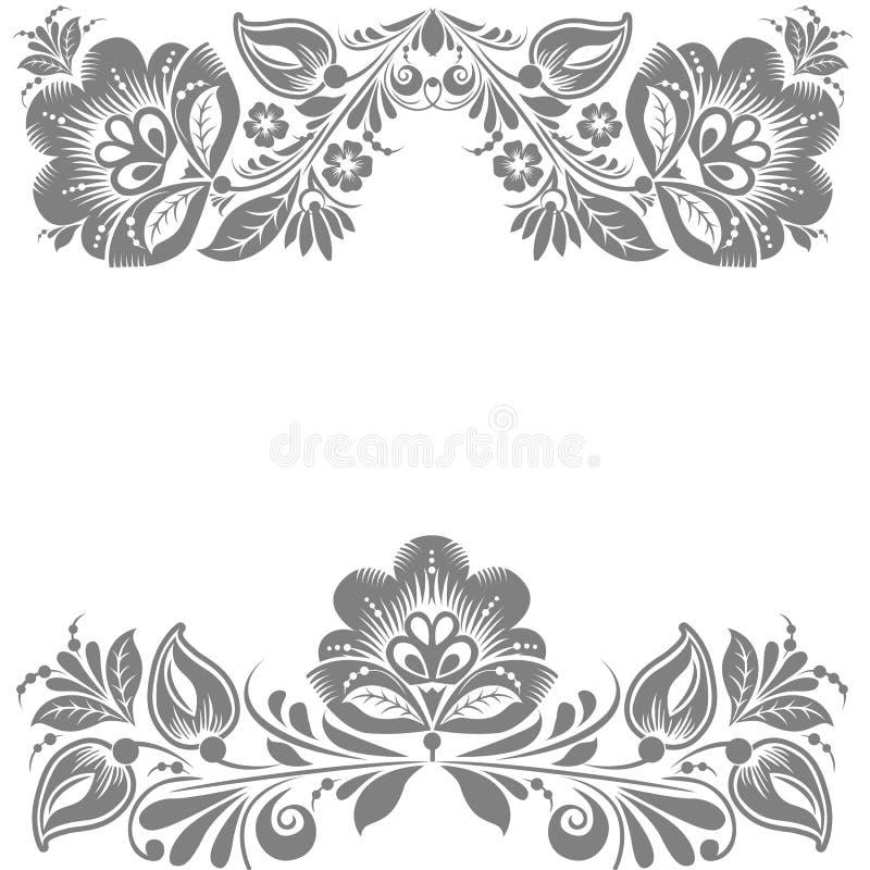 Kwiecisty ornament. Projekta element odizolowywający na Białym tle.  ilustracja ilustracja wektor