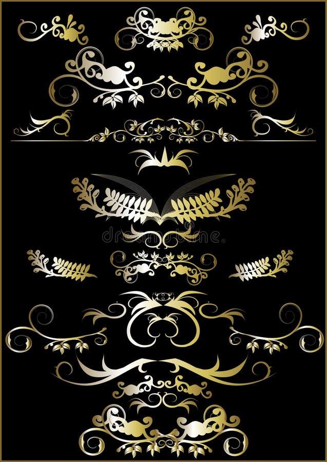 kwiecisty ornament ramowy royalty ilustracja