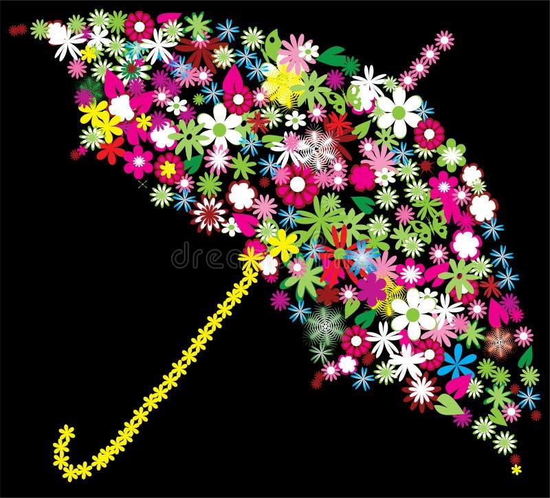 kwiecisty parasol ilustracja wektor
