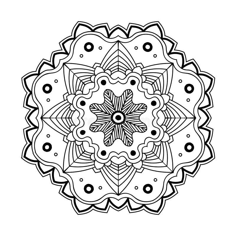 Kwiecisty prosty mandala royalty ilustracja