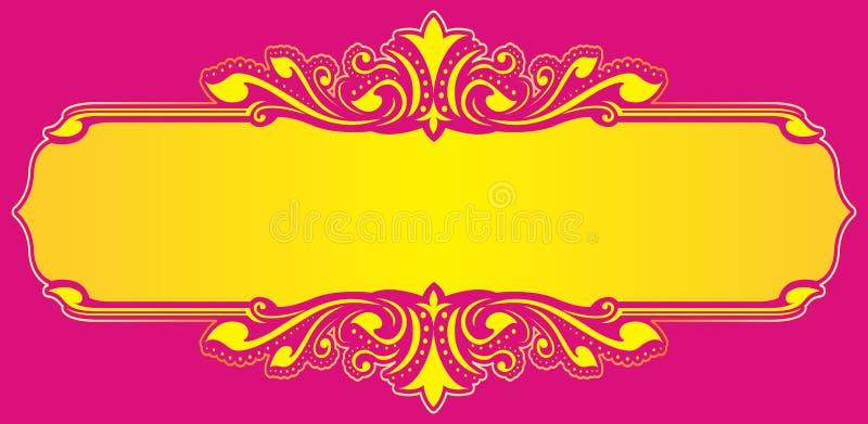 Download Kwiecisty Ramowy żółty Wektor Ilustracja Wektor - Ilustracja złożonej z artystyczny, ilustracje: 57663523
