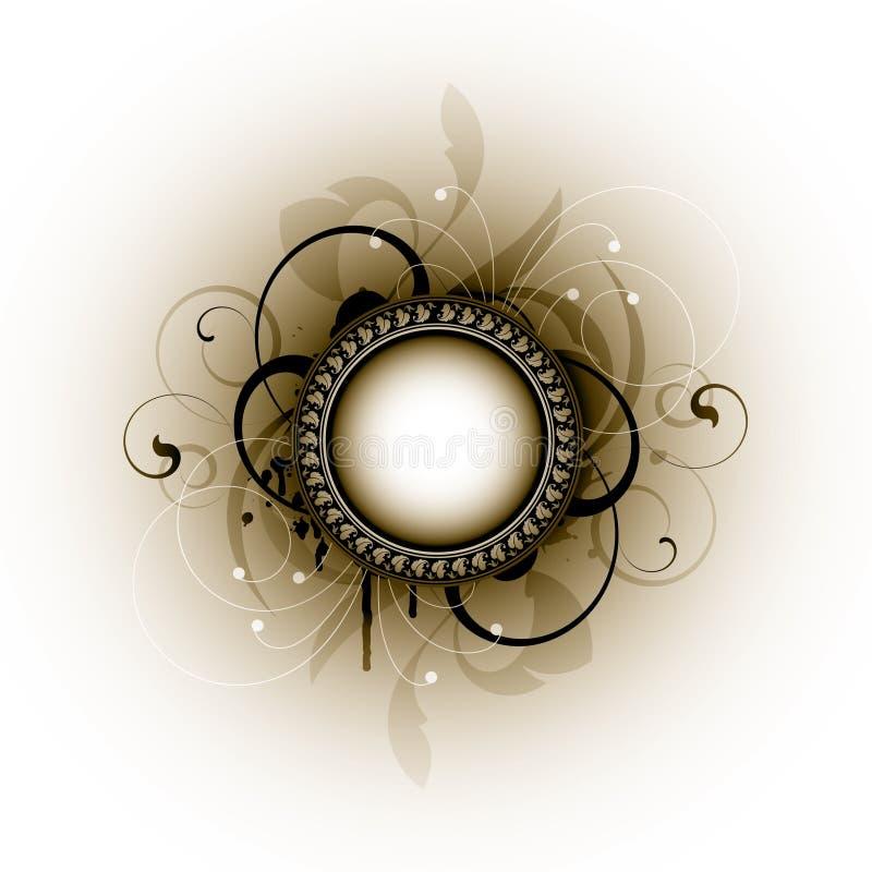 kwiecisty ramowy grunge ilustracja wektor