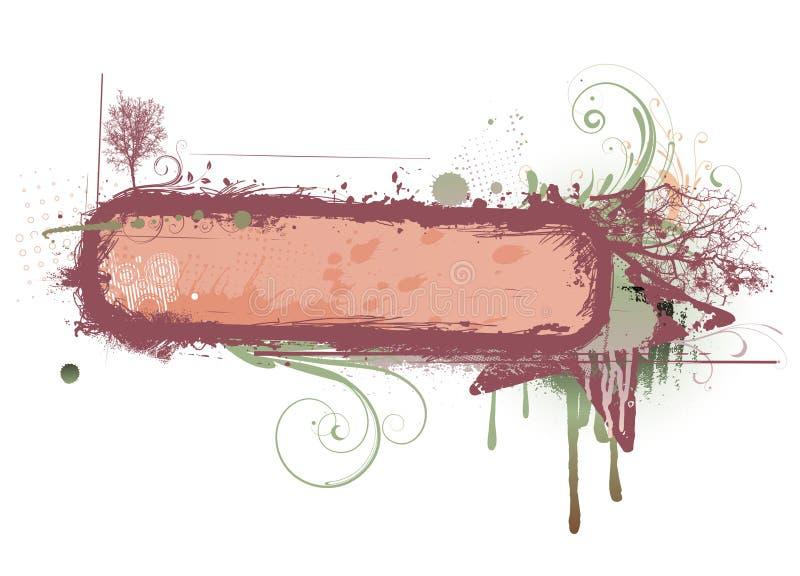 kwiecisty ramowy miastowy ilustracja wektor
