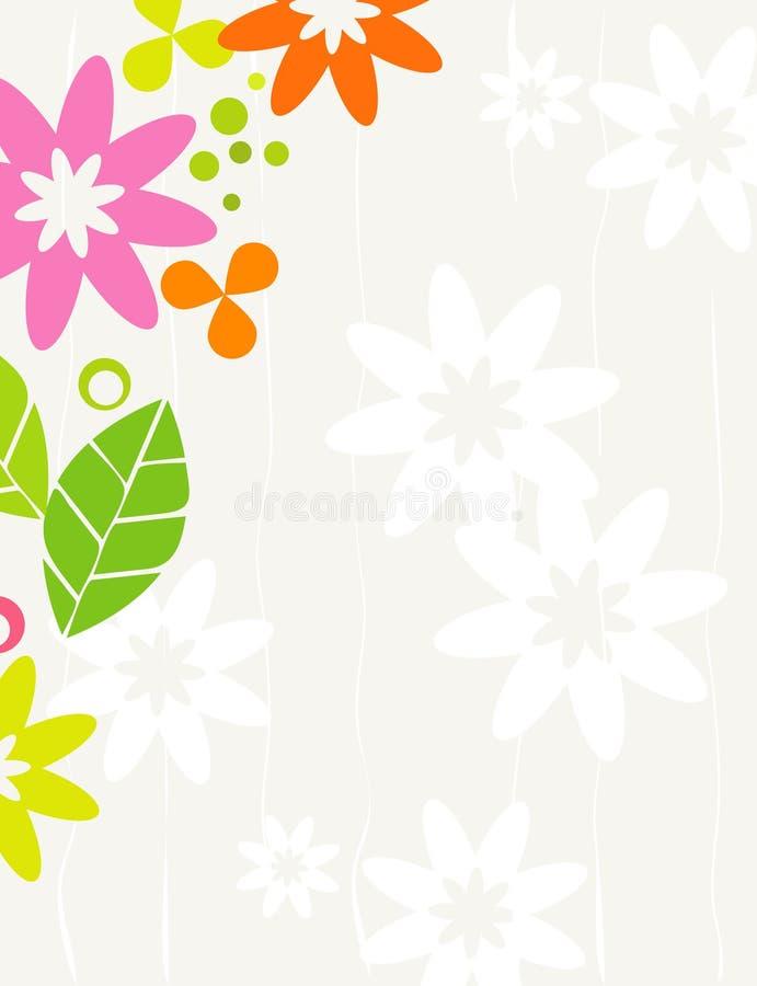 kwiecisty ramowy retro ilustracji