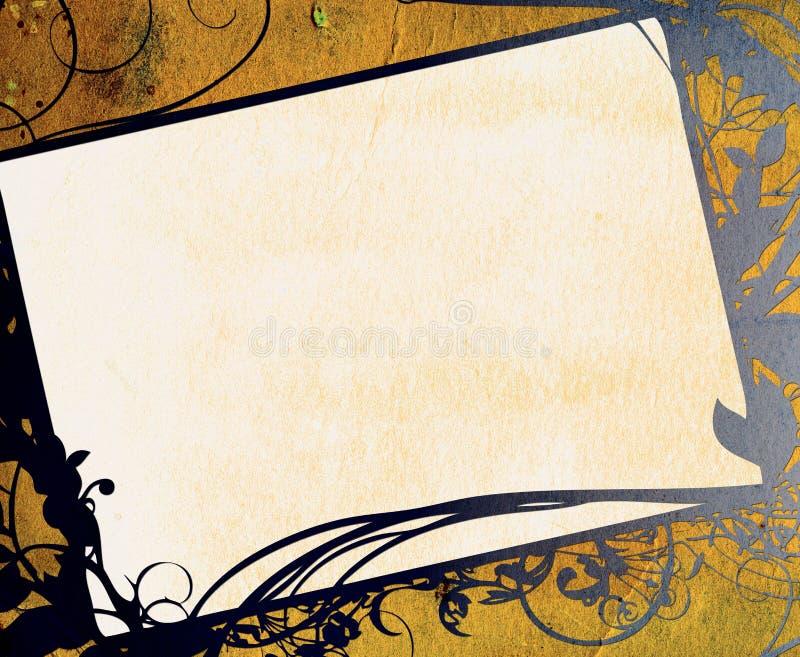 kwiecisty ramowy tła grunge textured ilustracja wektor