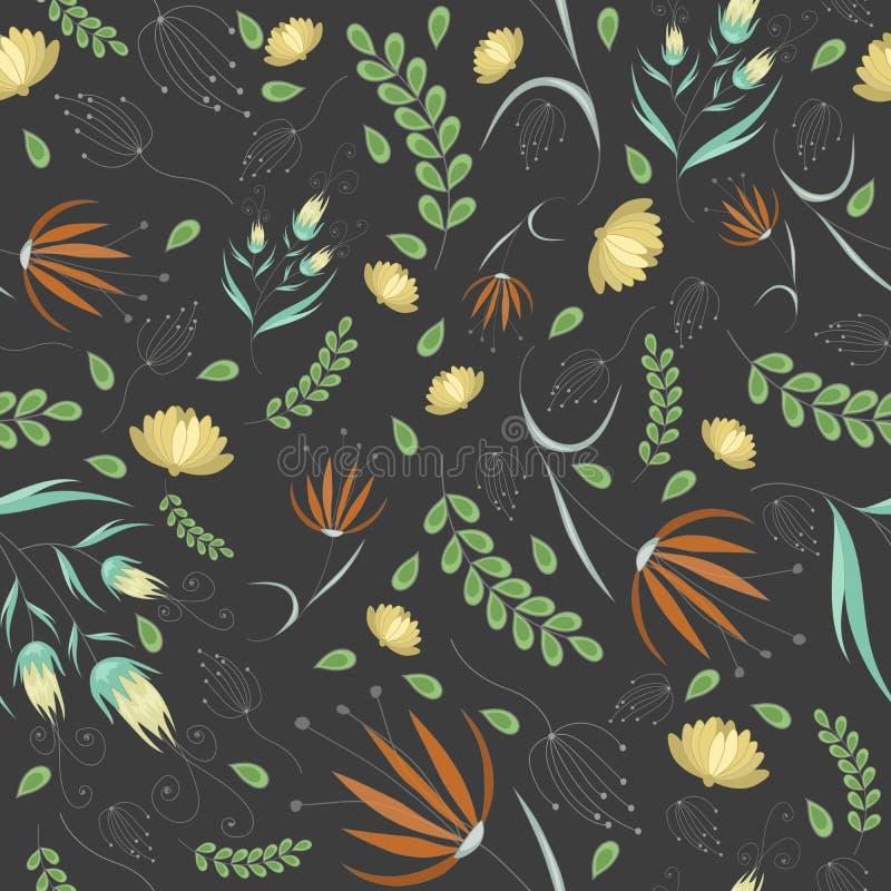 Kwiecisty siwieje wzór royalty ilustracja