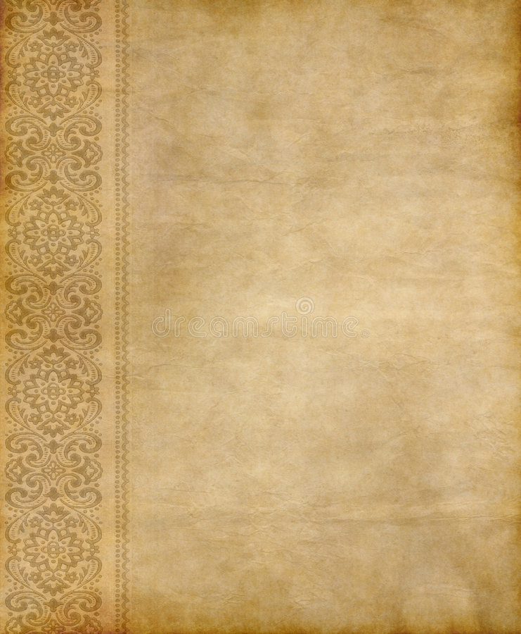kwiecisty stary pergamin ilustracja wektor