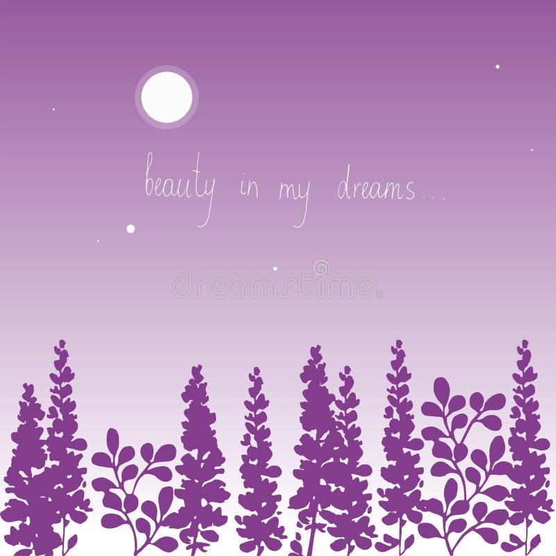 Kwiecisty tła piękno w mój sen ilustracji