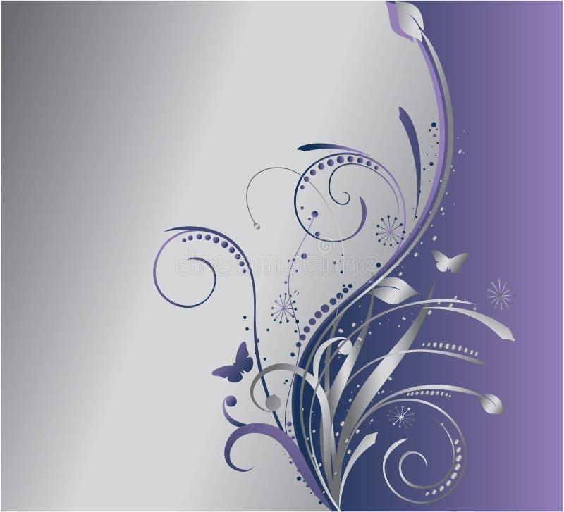 kwiecisty tła srebro ilustracji