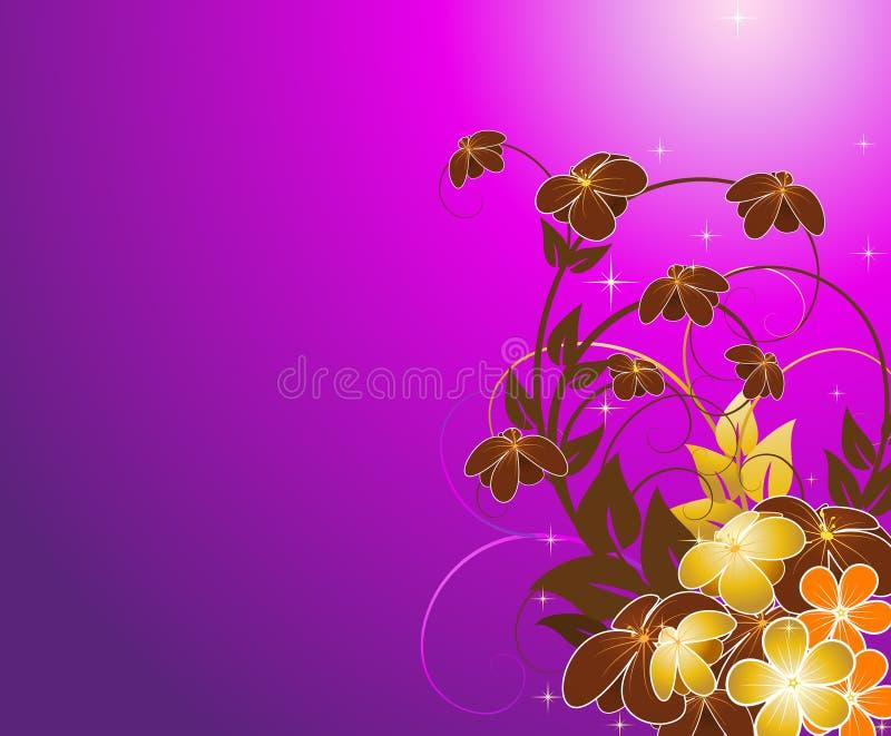 kwiecisty tło fiołek ilustracja wektor