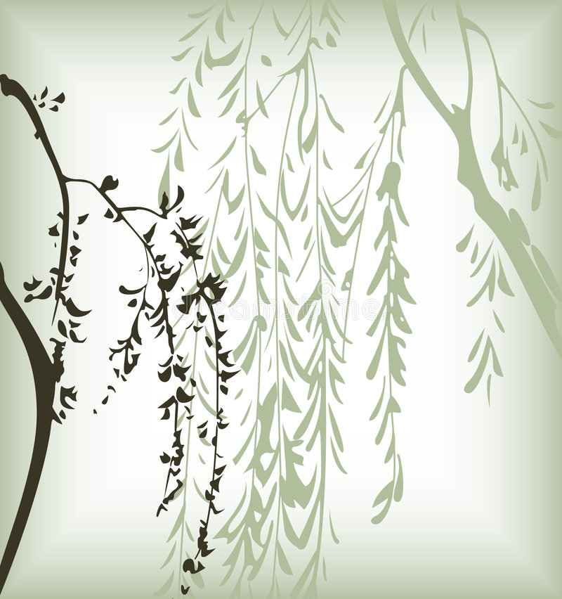 kwiecisty tło japończyk ilustracja wektor