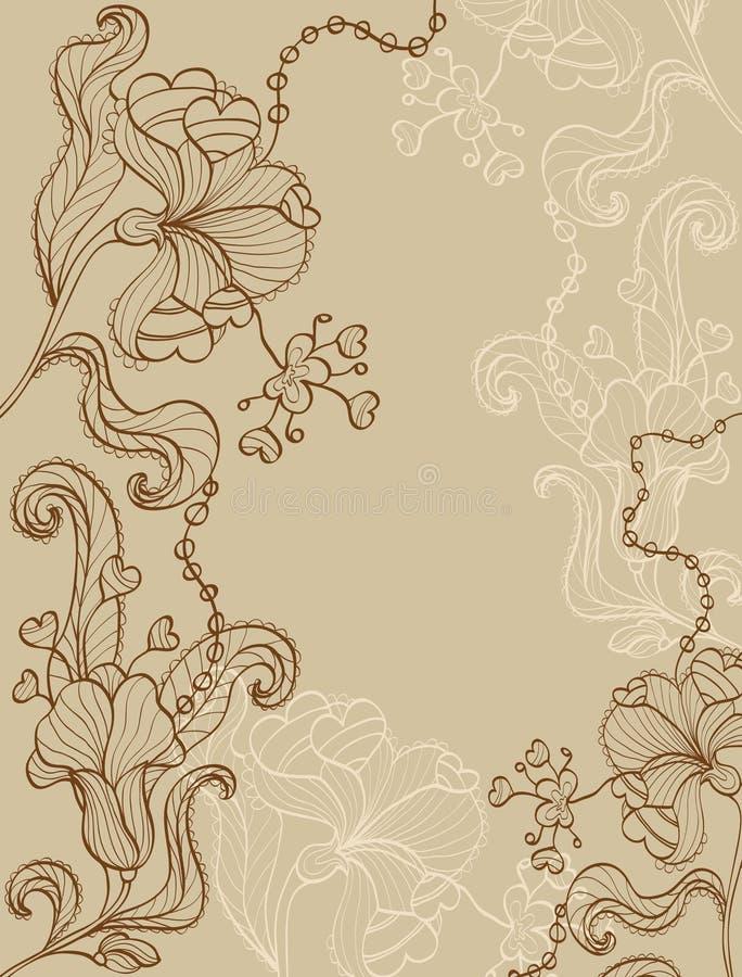 kwiecisty tło rocznik royalty ilustracja