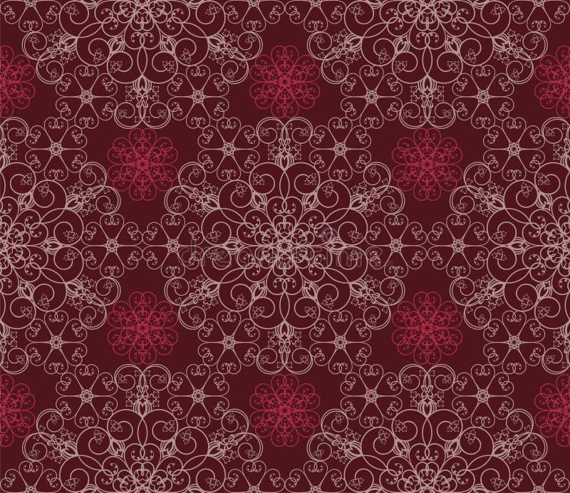 Download Kwiecisty tła maroon ilustracja wektor. Obraz złożonej z powtórka - 10797762