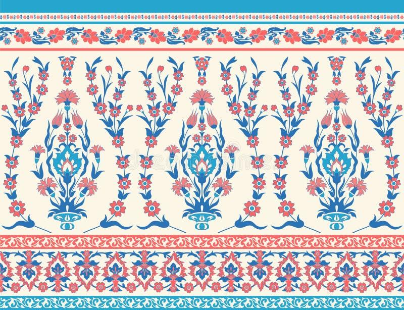 Kwiecisty tkanina wzór ilustracja wektor