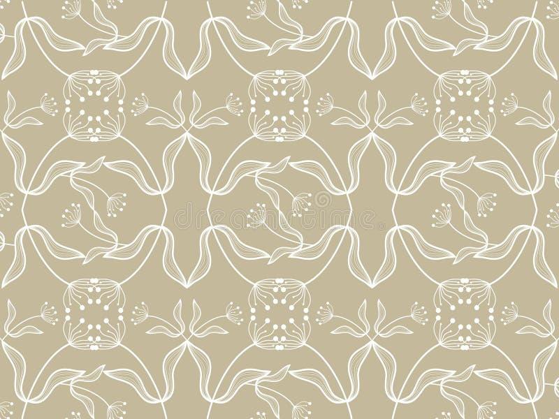 kwiecisty white taupe wzoru ilustracji