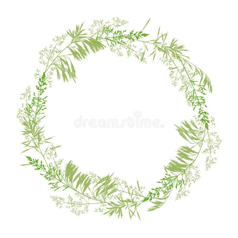 Kwiecisty wianek odizolowywający na bielu royalty ilustracja