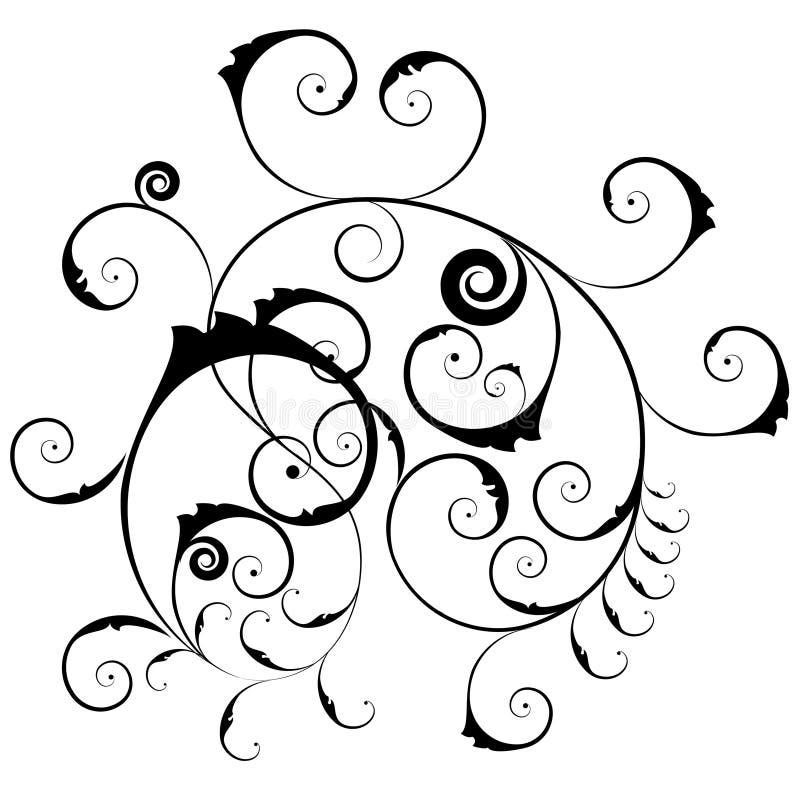 kwiecisty wzór ozdobny ilustracja wektor