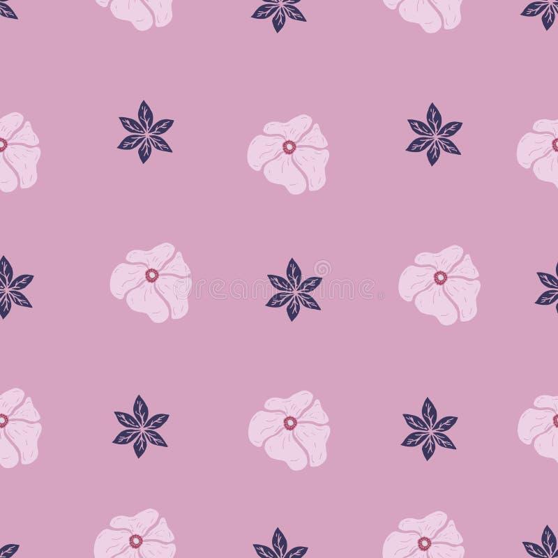 Kwiecisty wzór z różowymi kolorami zdjęcia royalty free
