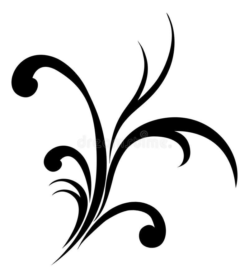 kwiecisty zawijas ilustracja wektor